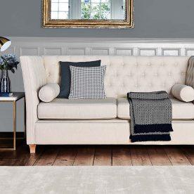 Button-back sofa design