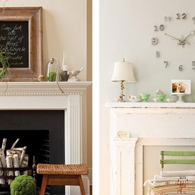 Fresh Ways to Decorate Your Mantel 1