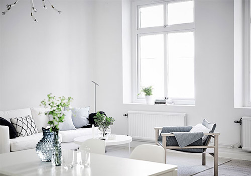 Decorating with white to create light