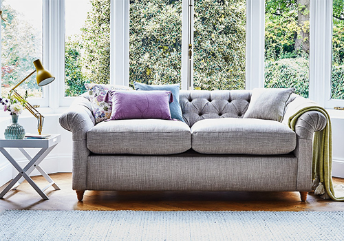 Product Shown: The Kittisford Sofa/sofa Bed Shown In House Linen Vintage  Grey From £1,247 And £1,397