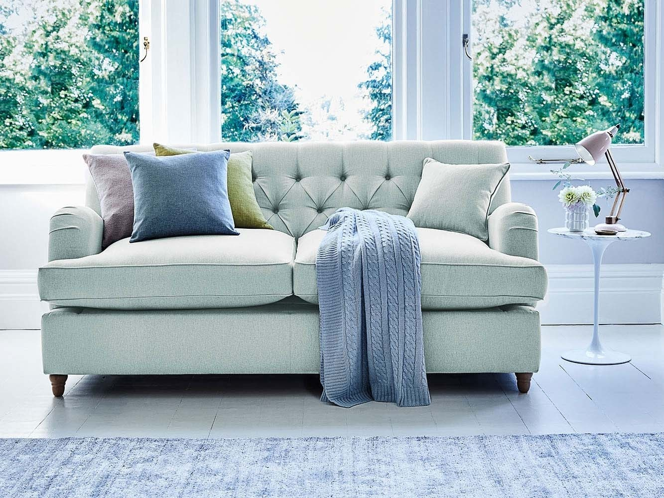 Foxcote sofa with button-back detailing