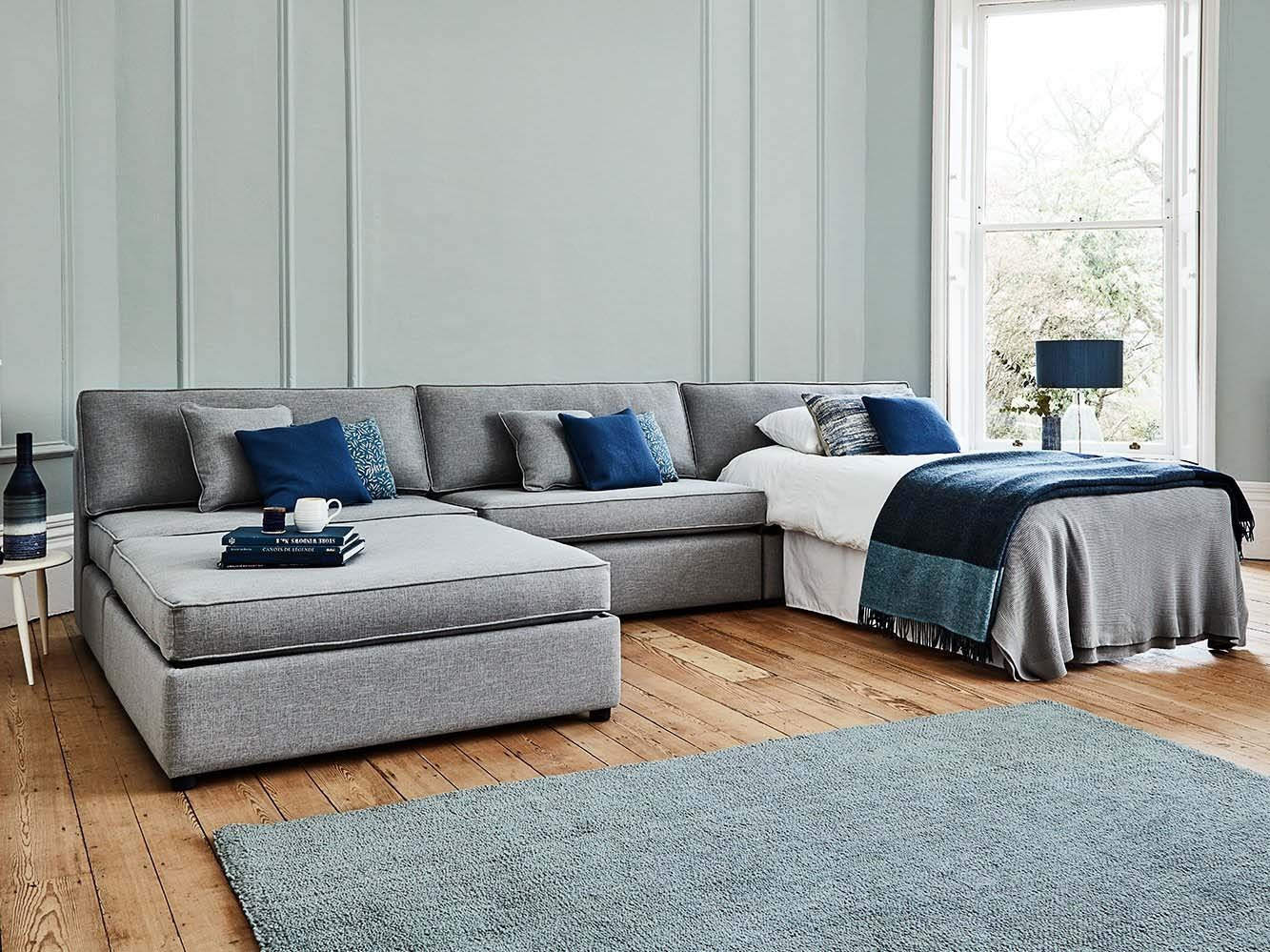 Luxury modular sofa beds with ottoman