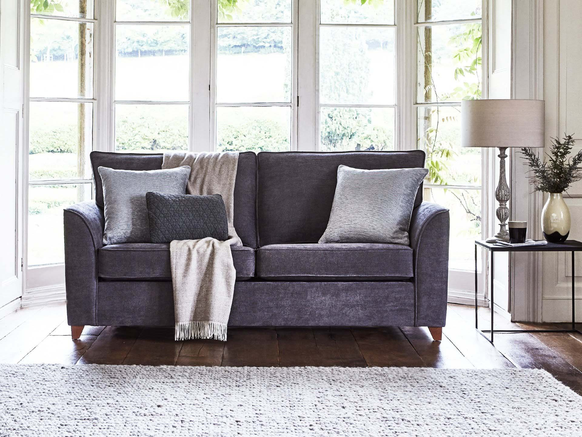This is how I look in Stain Resistant  Linen Cotton Pewter with reflex foam seat cushions
