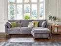 This is how I look in Stain Resistant Linen Cotton Pewter as a right side chaise with reflex foam seat cushions