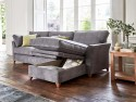 This is how I look in Linen Cotton Pewter as a right side chaise with siliconized hollow fibre<br> or feather-wrapped foam seat cushions