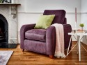 This is how I look in Stain Resistant Linen Cotton Aubergine with siliconized hollow fibre or feather-wrapped foam seat cushions